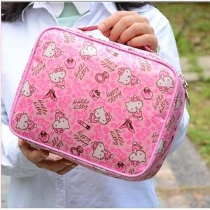 Hello Kitty Travel Case Square Top Handle Pink